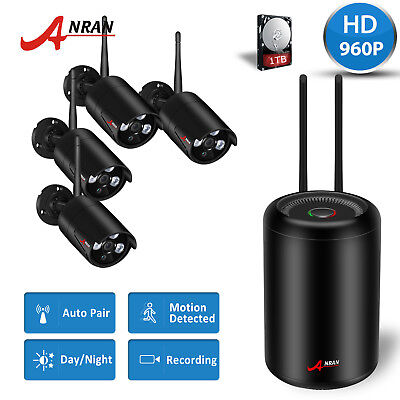 ANRAN 8CH Wireless Home NVR CCTV WIFI 1080P Outdoor Security Cameras System 1TB