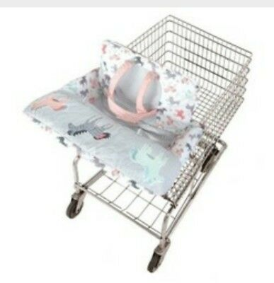 Go Goldbug 2-in-1 Reversible Cotton Shopping Cart Cover High Chair for Baby NIB!