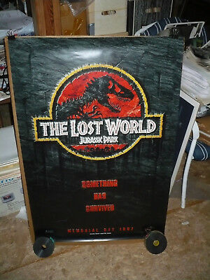 THE LOST WORLD, orig rolled D/S advance 1-sh / movie poster (Something survived)