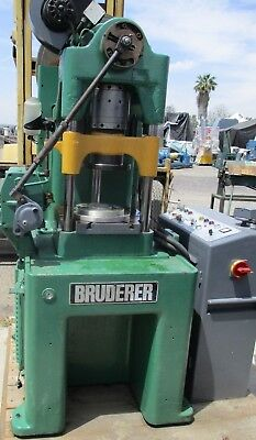 Bruderer Model Bsta 30 Bed 3 Post High Speed Punch Press W/ Control And Feeder