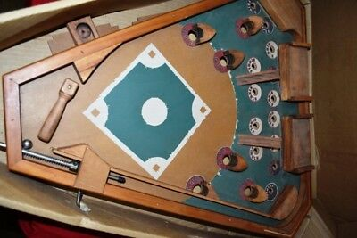 All Wood Classic Pinball Baseball Game old century vintage antique style arcade