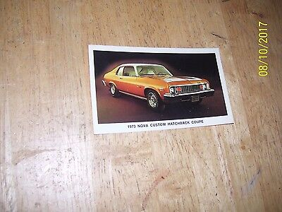 1973 Chevrolet Nova Custom Hatchback Coupe ORIGINAL Factory Postcard