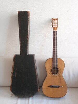 ANTIQUE CASED SPANISH GUITAR BY LOUIS PANORMO 1831 OR 1837  to be restored