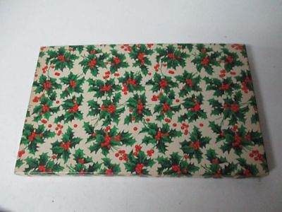 Vintage Holly Berry Covered Christmas Gift Box