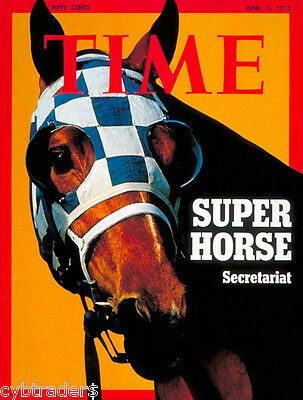 "Time Magazine Kentucky Derby Secretariat NEW! Large 7 1/2"" x 10""  Fridge Magnet"