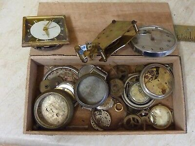 Box Of Clock--Watch Etc Bits And Pieces