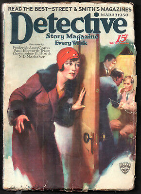 DETECTIVE STORY MAGAZINE:US Ed.29th March 1930-Christopher B.Booth.Alex Barber