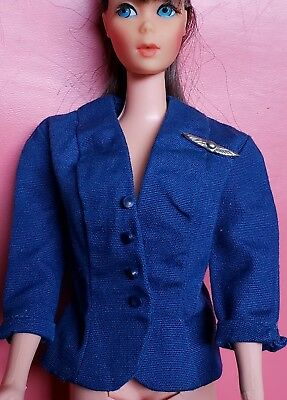 "Barbie Vintage ""armerican Airlines Stewardess"" #984 Jacket!  Pristine! Tagged"