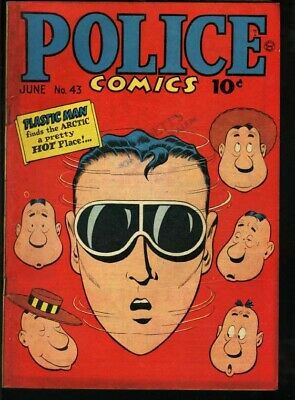 Police Comics #43-Plastic Man/the Spirit-1945 Vg+