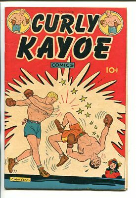 CURLEY KAYOE #1-1946-BOXING COVER-SAM VEFF-SOUTHERN STATES PEDIGREE-fn-