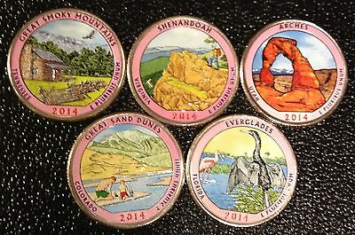 2014 D Colorized National Park Quarter Set