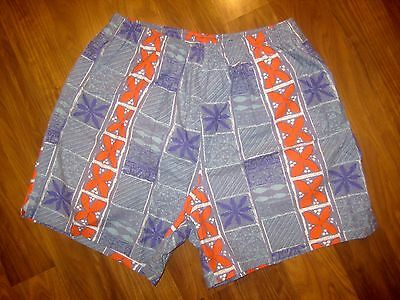 Vtg 80s 90s EXPRESS SURF Mens XL Beach jams Cotton Swim suit trunks board shorts