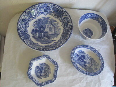 Small Selection 0F 4  George Jones Abbey Pattern  Pottery Dishes