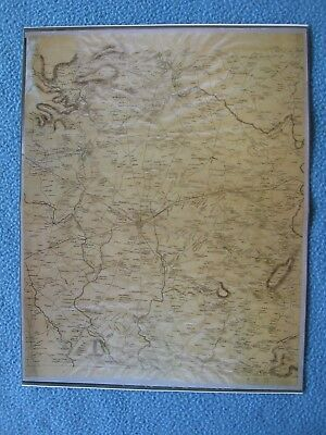 Civil War Map - Gettysburg - Route of March for the U.S. Army of the Potomac