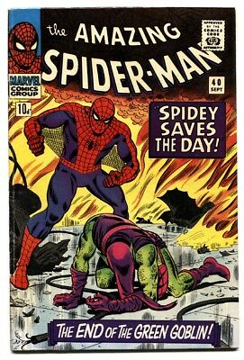 AMAZING SPIDER-MAN #40 Rare UK Variant 1966-Death of the Green Goblin-comic book