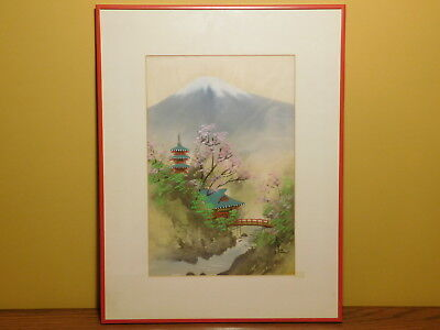 Signed Vintage Chinese Professionally Framed Fine Quality Silk Painting