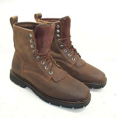 63bf931a5d8 951TT MENS CODY James Waterproof Soft Toe Lace-Up Western Work Boots 13 D