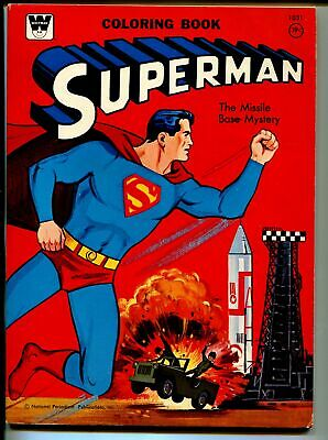Superman Coloring Book #1031 1965-Whitman-explosion cover-unused-FN/VF