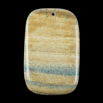 natural african queen picture jasper gemstone pendant charm bead stone f5343