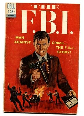 THE F.B.I. #1 comic book 1965-DELL-1ST ISSUE-HOOVER-KARPIS-LINDBERGH-
