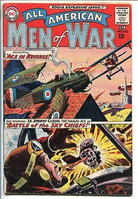 ALL-AMERICAN MEN OF WAR #100-1963-DC-RUSS HEATH-SPECIAL ISSUE-JOHNNY CLOUD-vg/fn