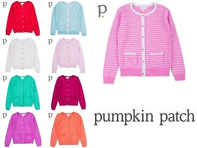 Pumpkin Patch Cardigans Carly Rose Girls 100% Cotton Pockets Gold Tone Buttons