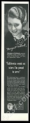 1940 Margaret Fishback photo California Wine Board vintage print ad