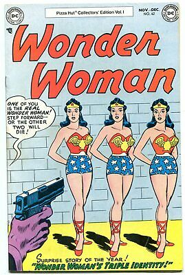 Wonder Woman #62 1977- Pizza Hut reprint-  Triple Identity FN