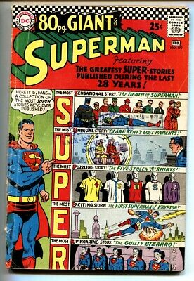 Superman #193 comic book-1967-80 page giant- Dc Comics- VG