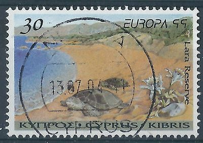 q300)  Cyprus. 1999. Used. SG 970 30c Turtles at Lara Reserve. Europa.