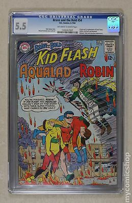 Brave and the Bold (1st Series DC) #54 1964 CGC 5.5 1292457007