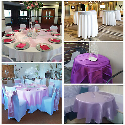 145cm Round Satin Tablecloth Wedding Party Restaurant Home Tablecover Decoration