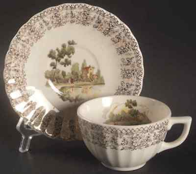 American Limoges CHATEAU FRANCE Cup & Saucer 317329