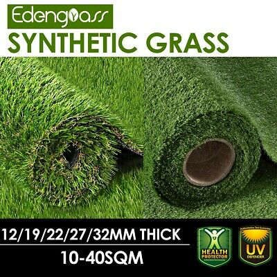10-40 SQM Artificial Grass Synthetic Turf Plastic Plant Fake Lawn Flooring Green