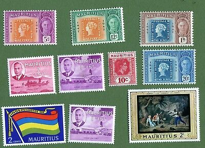 Old mint-hinged stamps of Mauritius.