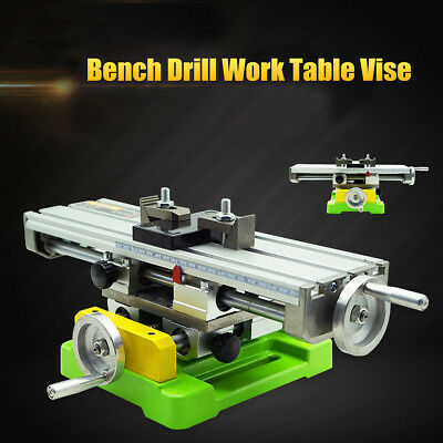 Accuracy Multifunction Milling Machine Worktable Drill Adjustment + Bench Vise