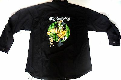 MOTLEY CRUE  black shirt, with Motley Crue embroidered logo front and back,Large