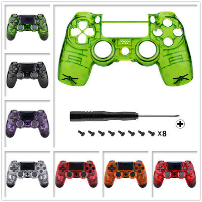 Clear Faceplate Front Housing Shell Replacement Mod For PS4 Slim Pro Controller