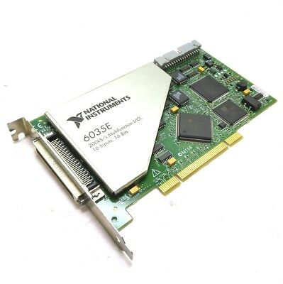 National Instruments PCI-6035E DAQ Board, 16 Inputs, 12-bit Analog Out, 200 KS/s