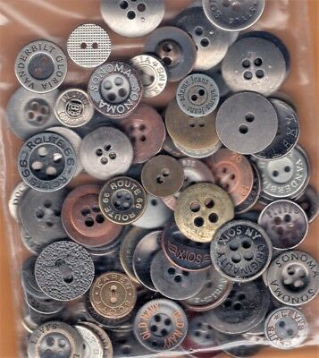 VINTAGE LOT of 85 METAL BUTTONS *Brands *Work Clothes Overall Jeans