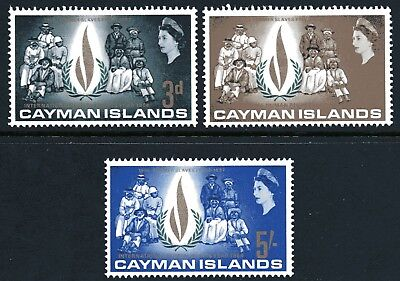Cayman Islands 1968 Human Rights Year set of 3 Mint Unhinged
