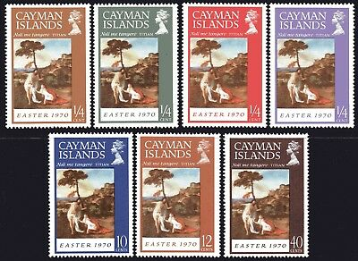 Cayman Islands 1970 Easter - Paintings set of 7 Mint Unhinged