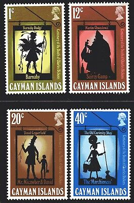 Cayman Islands 1970 Charles Dickens set of 4 Mint Unhinged