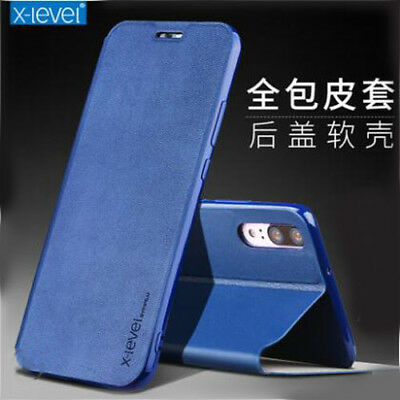 Luxury Genuine Leather Stand Flip Cover UP Case Cover for Huawei P20 Lite / Pro