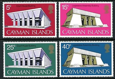 Cayman Islands 1972 New Government Buildings set of 4 Mint Unhinged