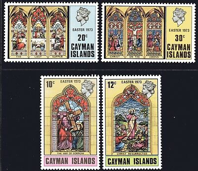 Cayman Islands 1973 Easter set of 4 Mint Unhinged