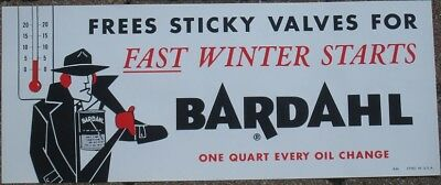 RARE BARDAHL LARGE SIGN 1950's BARDAHL DETECTIVE NEW OLD STOCK