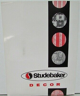 1965 1966 Studebaker Upholstery Vinyl Cloth Paint Chips Decor Sales Folder Orig
