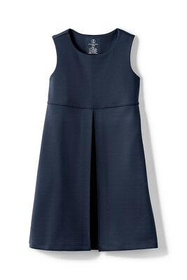 LANDS END Classic Navy School Uniform Pleat Jumper Dress Girls 4  *NEW*  $33