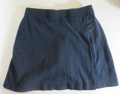 LANDS END Classic Navy School Uniform Knit Skort Girls 14 GC